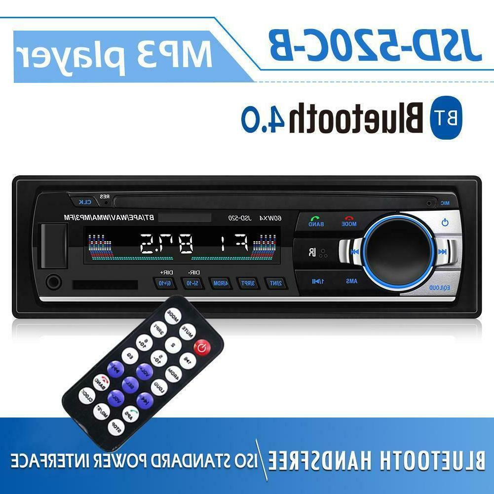 1Din Bluetooth Car In Audio MP3 Player FM USB AUX-IN