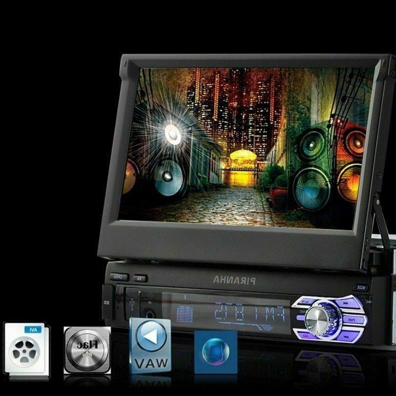 """Car Radio 7"""" 1 DIN Audio Retractable Player+Camera"""
