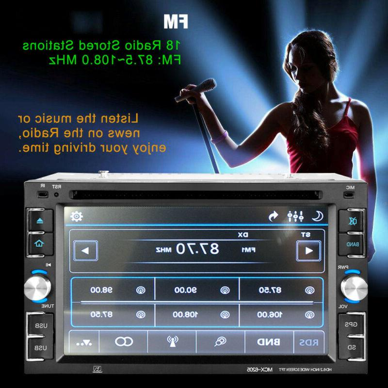 2 Stereo GPS Navigation Radio Bluetooth TV Camera