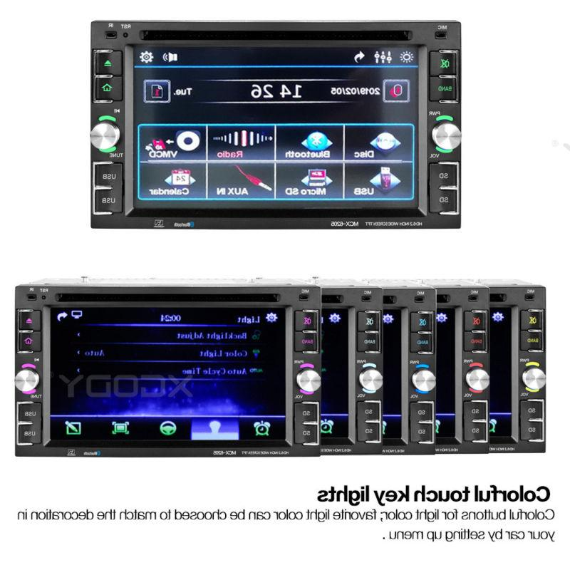 GPS Double Din Stereo Radio Player Free Map TV Port