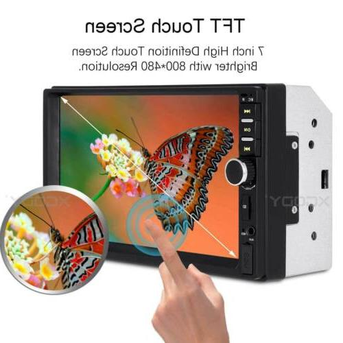 2DIN Stereo USB/TF/AUX/Remote Touch Screen
