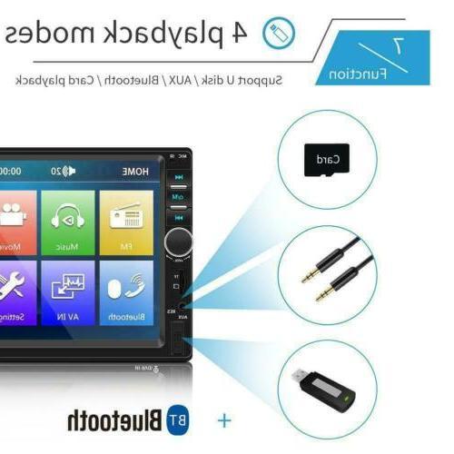 2DIN Stereo USB/TF/AUX/Remote