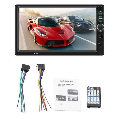 2DIN 7''Car Stereo Mirror Bluetooth USB/TF/AUX/Remote