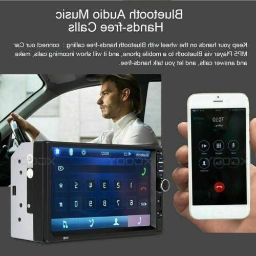 2DIN Stereo USB/TF/AUX/Remote Touch