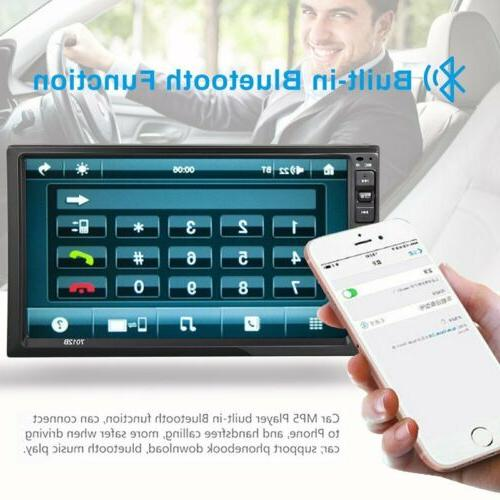2 Stereo Radio Player AUX Link Touch Screen
