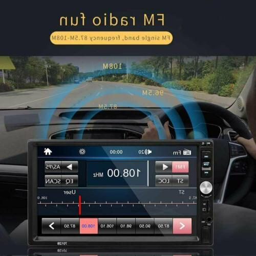 2 DIN Stereo Radio Player AUX Link