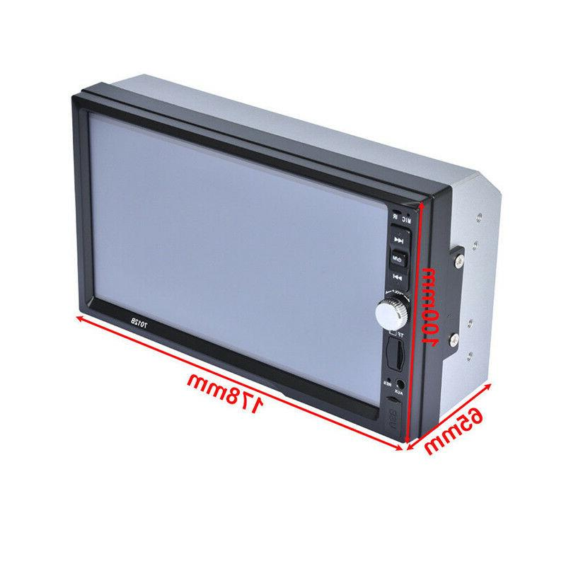 "2 DIN 7"" Car Stereo FM Mirror Camera"