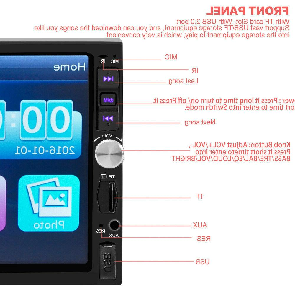 2-DIN 7inch MP5 Bluetooth Touch Screen Radio