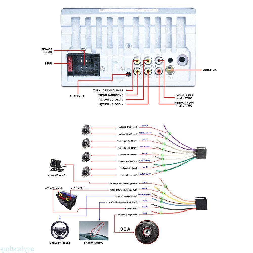 2-DIN 7inch Car MP3 MP5 TV Bluetooth Radio USB/AUX