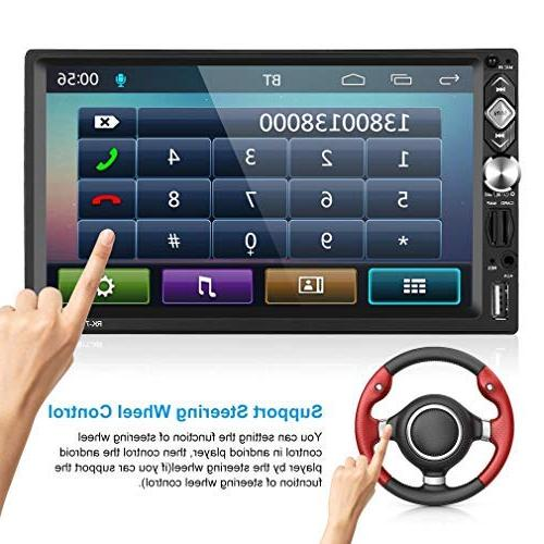"""2 ,7"""" Car Stereo Player,Mirror Camera/Wireless/FM USB/AUX-in"""