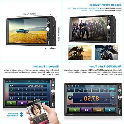 """2 Din ,7"""" Screen Car Stereo MP5 Player,Mirror link/Rear USB/AUX-in +"""