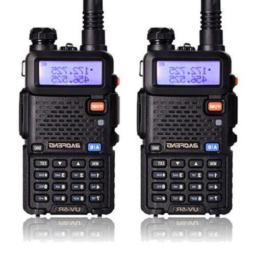 2 x Baofeng UV-5R Dual Band UHF/VHF Radio RF 5W FM Ham 2 Way