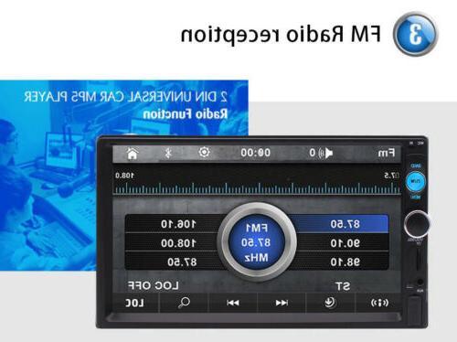2DIN Stereo Bluetooth Screen + Rear
