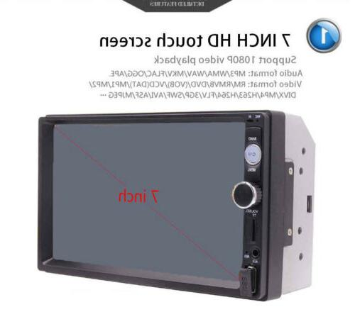 2DIN Stereo Radio MP5 Bluetooth Rear Camera