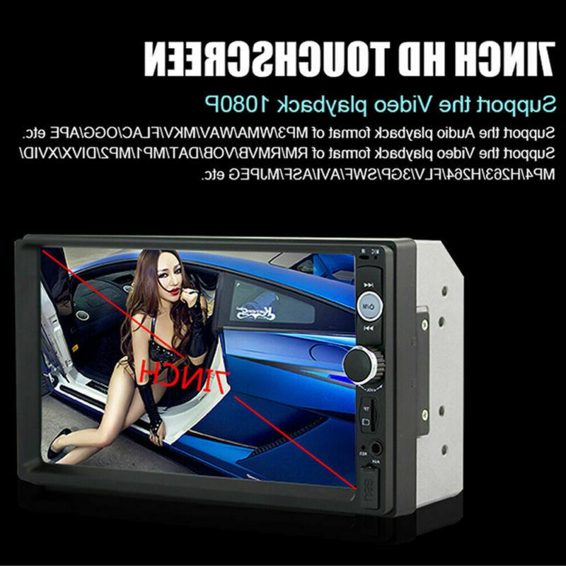 2DIN Player Radio Rear Camera