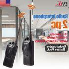 2PCS Kenwood TK-3207G UHF Portable Walkie Talkie Handheld Ra