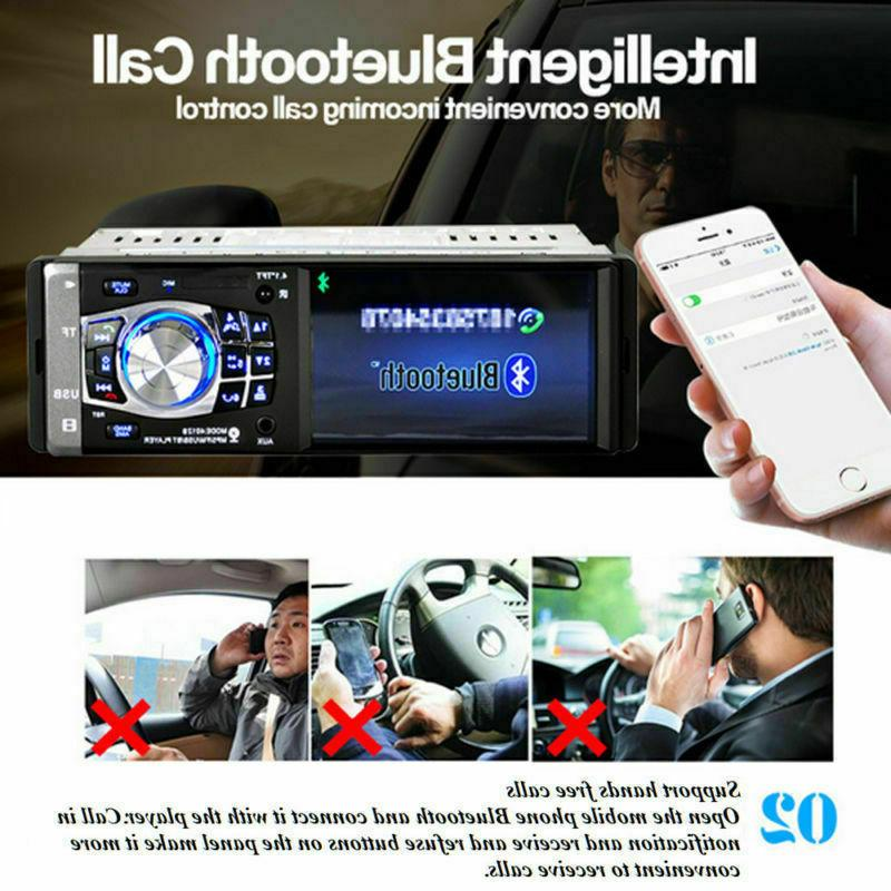 "4.1"" Car Bluetooth Stereo Radio MP3 AUX Player Head 1DIN"