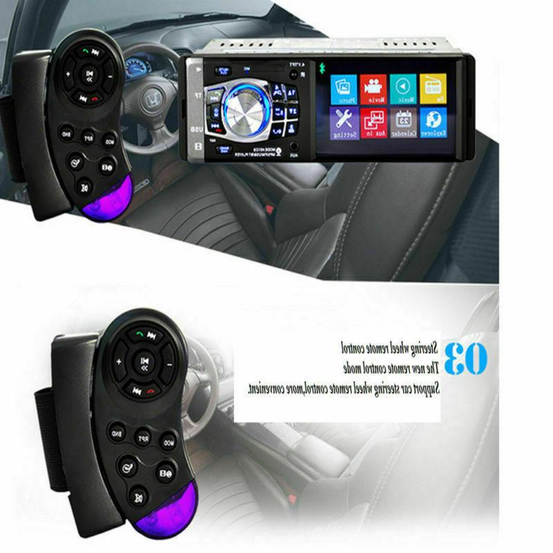 """4.1"""" Bluetooth Stereo MP3 AUX Player 1DIN"""
