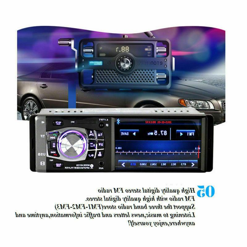 "4.1"" Car Bluetooth Stereo Radio MP3 AUX Head Unit 1DIN"