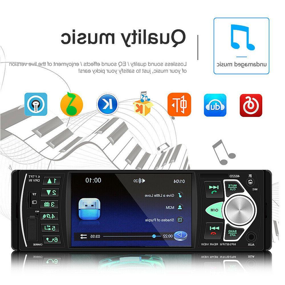 4.1'' Radio 1Din Audio BT Wheel Remote