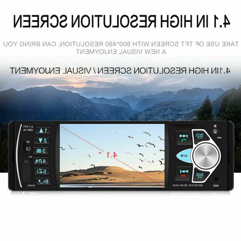 4.1'' Car 1Din Audio Steering Wheel Player+Camera