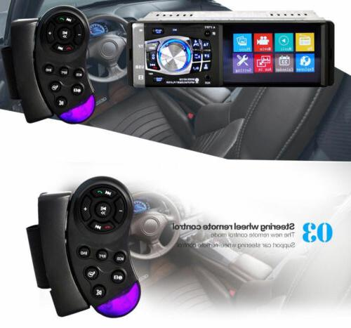 4.1'' 1DIN Radio AUX MP4 MP5 Wheel