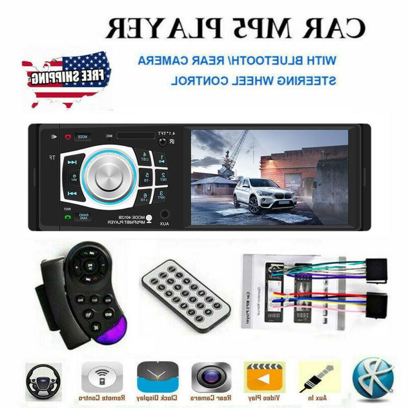 "4.1"" HD Single 1DIN Car Stereo Video MP5 Player Bluetooth FM"