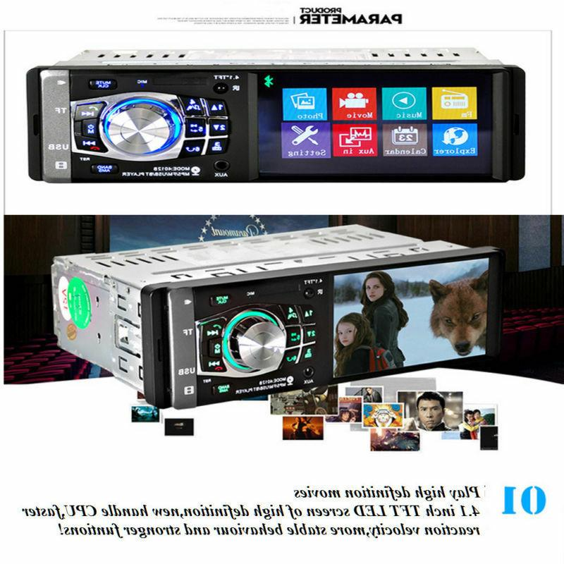 """4.1"""" HD Car Stereo MP5 Player BT AUX Camera"""