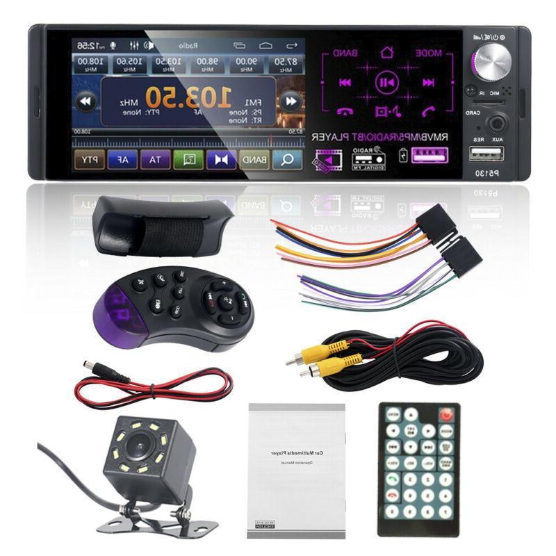 "4.1"" 1 DIN Bluetooth Touch Screen Radio+Camera"