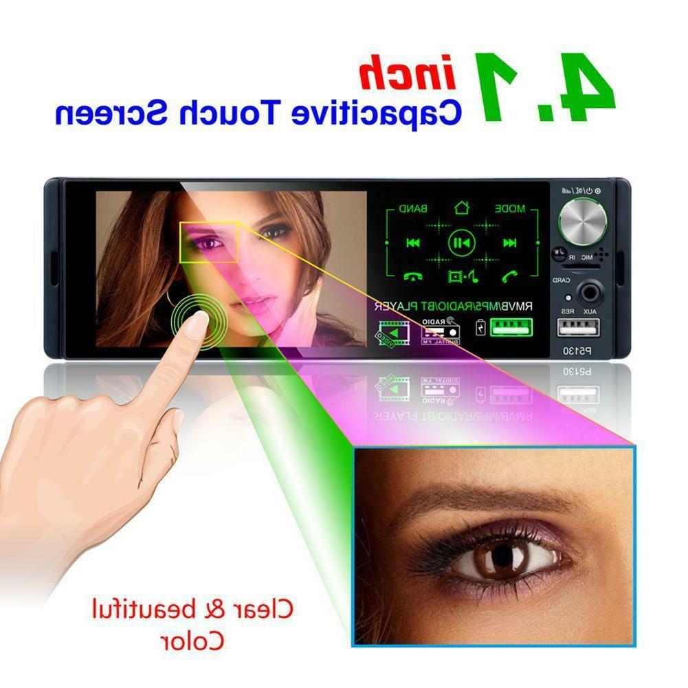 DIN Car MP5 Player Bluetooth Touch Radio+Camera
