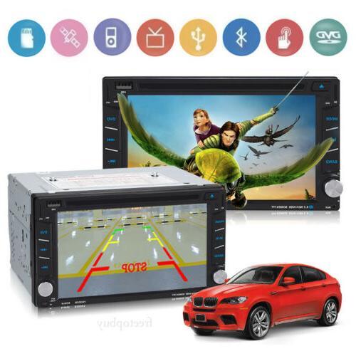 "6.2"" 2Din Car Stereo Radio GPS Screen Bluetooth FM"