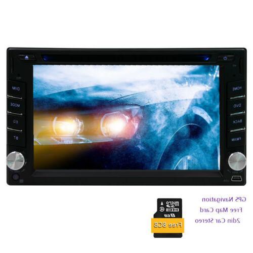 "6.2"" 2Din Car Stereo Radio Nav Touch Screen Bluetooth CD FM Player"