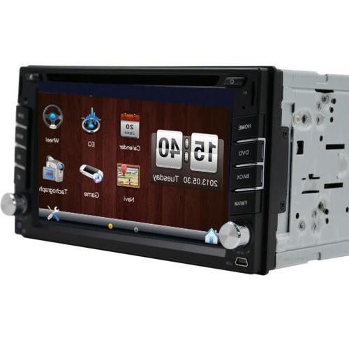 "6.2"" 2Din Stereo Radio Nav Screen Bluetooth FM Player"