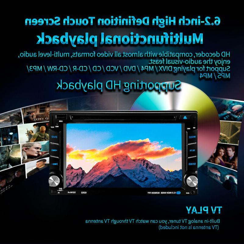 "6.2"" Car Stereo DVD Player Mirror Link 2 + Rear"