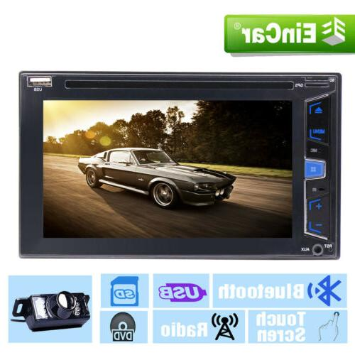 "6.2"" Double Stereo Car Radio Steering Control AUX FM Rear Camera"