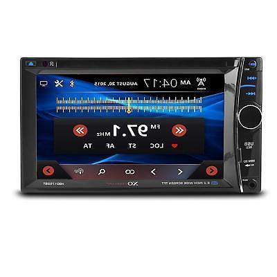 XO Vision 6.2-inch Touchscreen DVD Multimedia Car Stereo Rec