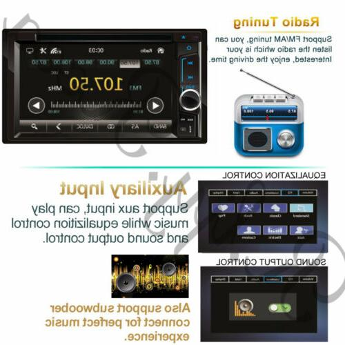 "6.2"" 2 Din Car DVD Player Double Stereo Radio Bluetooth Link"