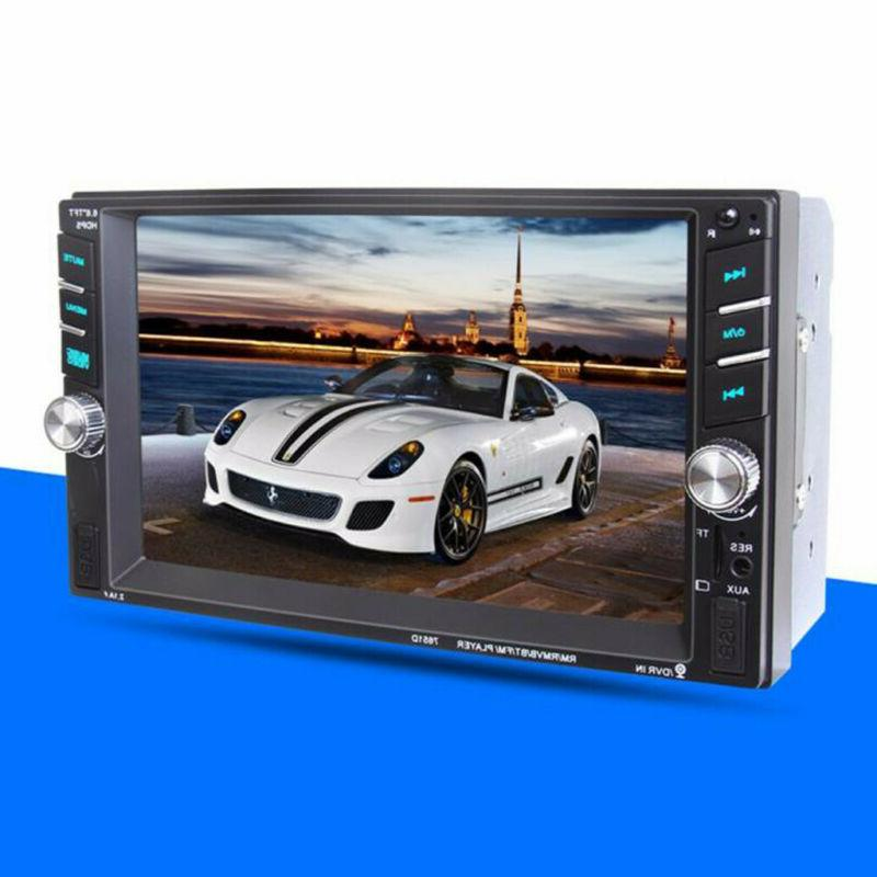 """7"""" 1080P Double DIN Stereo Radio Player Touch Bluetooth"""