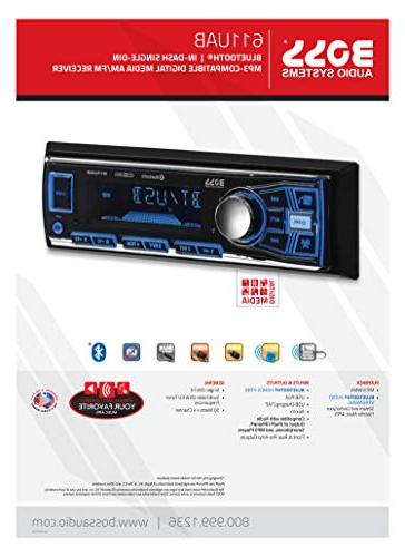 Car Stereo – Din, Audio Hands-Free Calling, Built-in MP3 Player, USB Receiver,