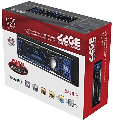 BOSS Audio Car Single Hands-Free Built-in MP3 AUX Receiver,