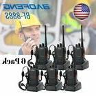 6x  Baofeng Walkie Talkie 2 Way Radio Handheld Long Range Ma