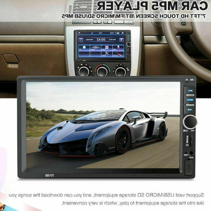 "7"" DIN Stereo GPS FM MP5 Player Bluetooth + Rear"