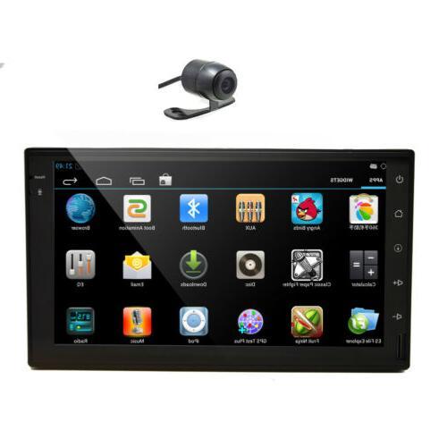 "7"" 2 Car Stereo Radio GPS Bluetooth with"