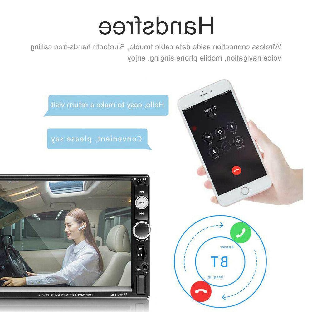 "7"" 2Din Car Stereo Radio Bluetooth SD HD"