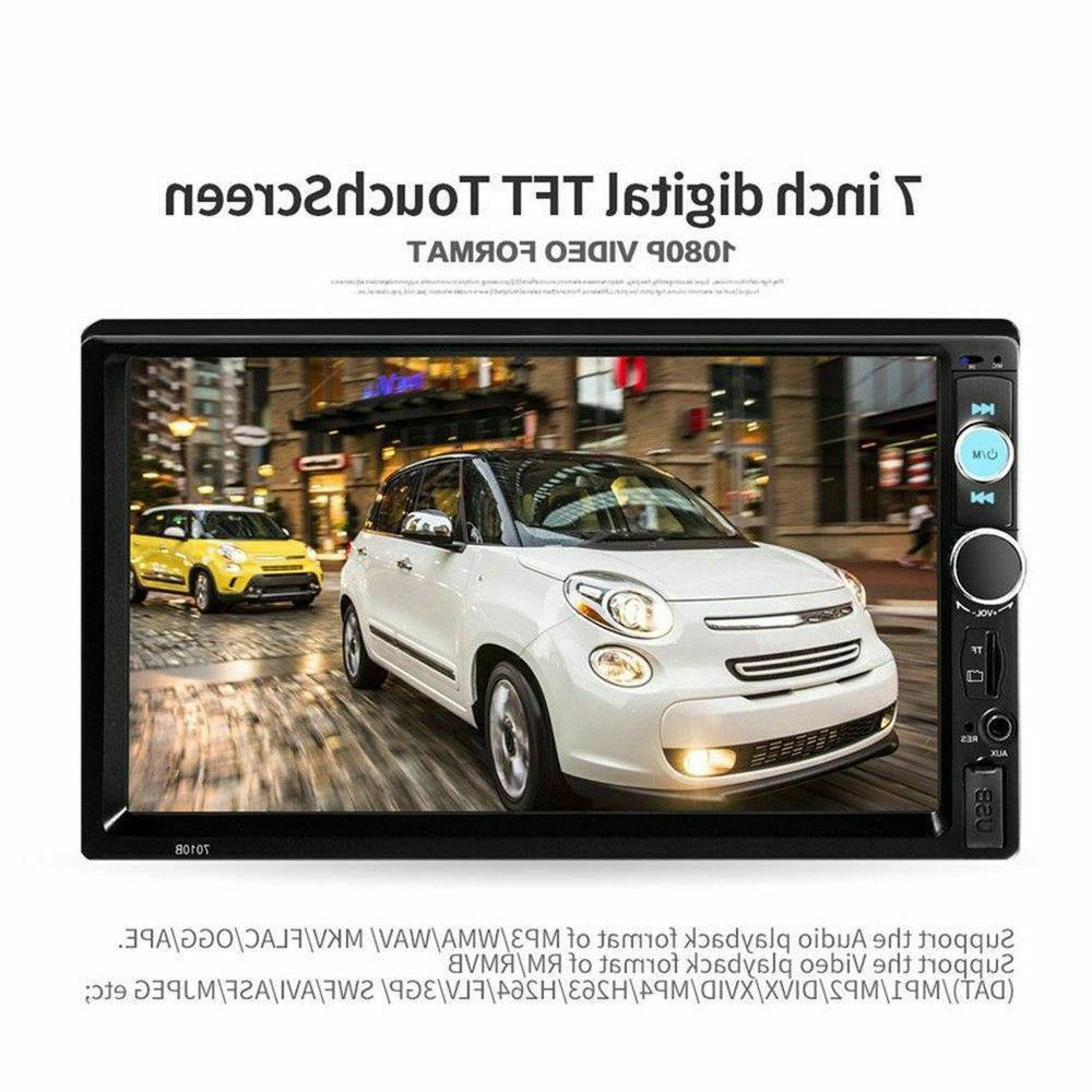 7'' 2 Screen Bluetooth Stereo USB/TF/AUX/FM/Remote