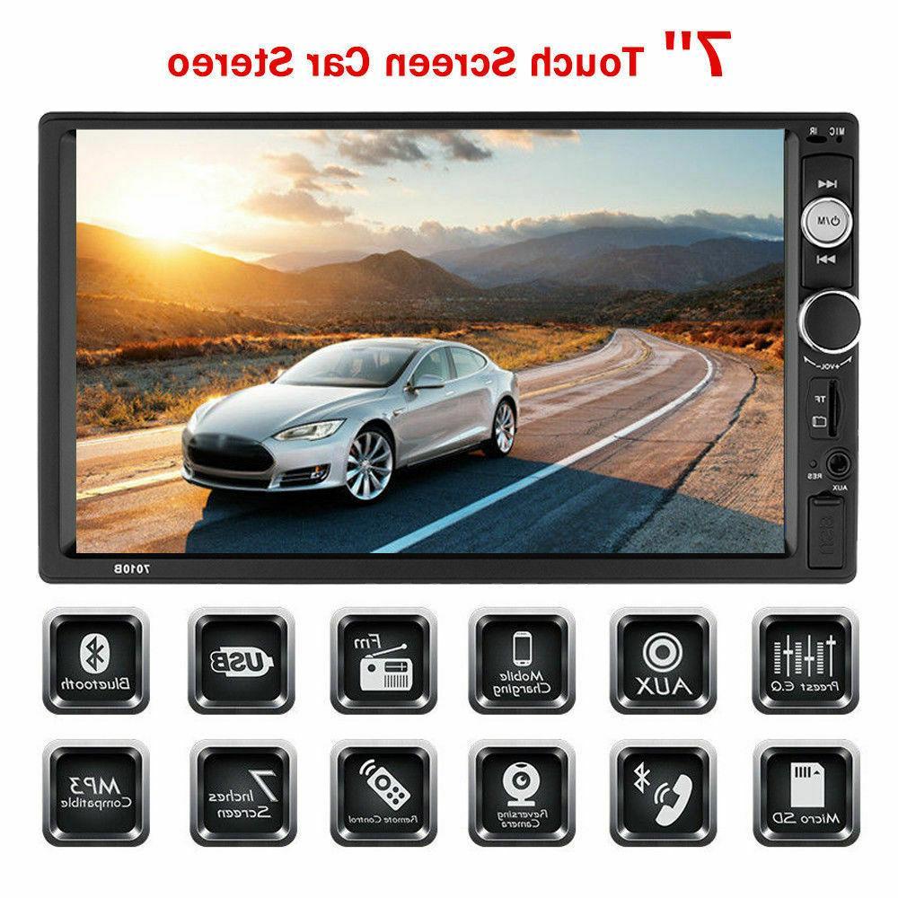 7'' DIN Screen Radio Bluetooth Audio USB/TF/AUX/FM/Remote