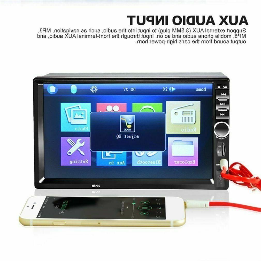 7'' 2 Screen Car Bluetooth Stereo
