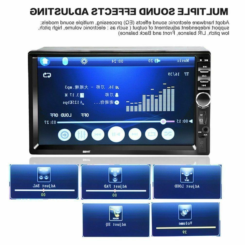 7'' DIN Screen Car MP5 Bluetooth