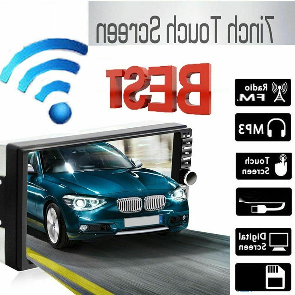 7 2 din touch screen car radio