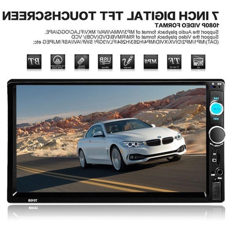 "7"" inch Touch Double MP5 Player Bluetooth Radio +"